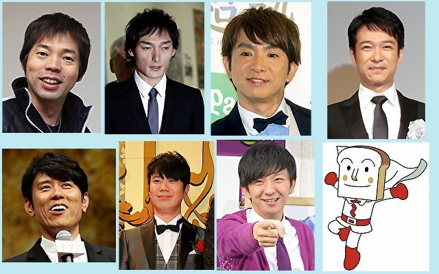 体癖4種の男性有名人やキャラクター