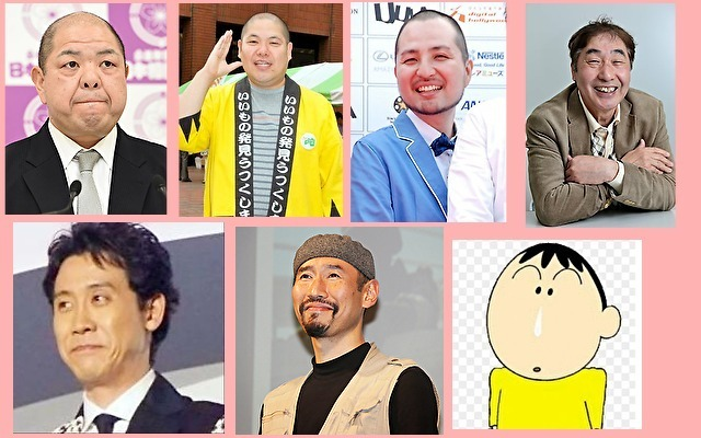 体癖6種の男性有名人やキャラクター