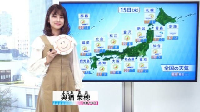 與猶茉穂(ウェザーマップの気象予報士)