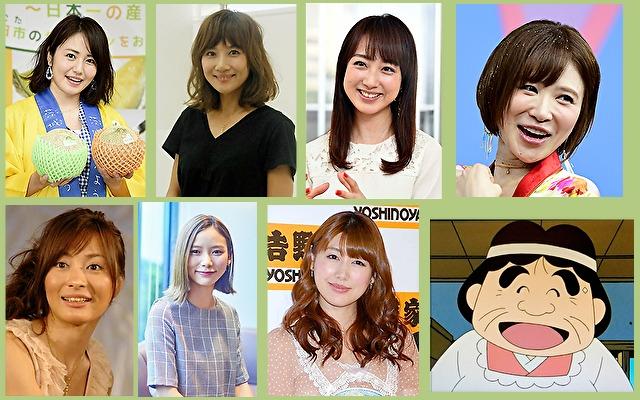 体癖10種の女性有名人やキャラクター