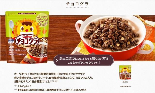 「チョコグラ」の商品紹介